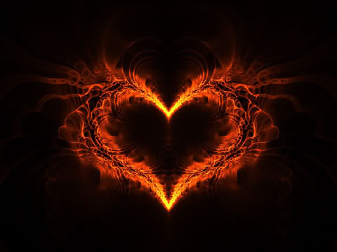 Heart Fractal Fire by Le9ion